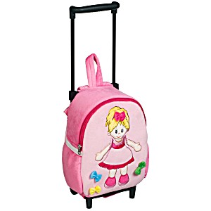 Рюкзак детский на колесах для малышей Heunec Кукла Лизель
