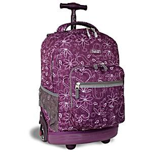 Универсальный школьный рюкзак на колесах JWORLD Sunrise арт. RBS18 Любовь Фиолетовый