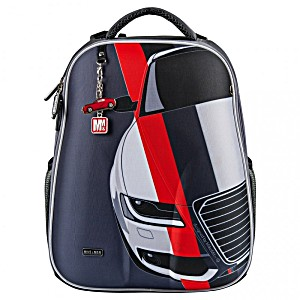 Рюкзак школьный Mike&Mar Майк Мар Машина т.серый 1008-158